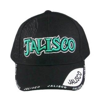 JALISCO MEXICO GREEN BLACK CAP HAT EMBROIDERED ADJ NEW Sports & Outdoors