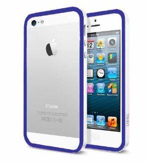 Chivel (TM) Indigo White Protector Bumper Frame Case Cover for Apple Verizon At&t Sprint iPhone 5 Cell Phones & Accessories