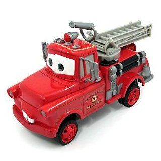 Disney Cars Toon Rescue Squad Mater Fire Truck Push Along Car Toys & Games