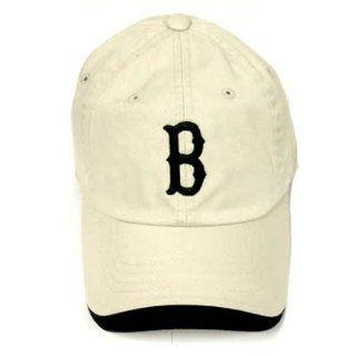 BOSTON RED SOX STONE GARMENT WASHED BLK HAT CAP ADJ NEW  Sports Fan Baseball Caps  Sports & Outdoors