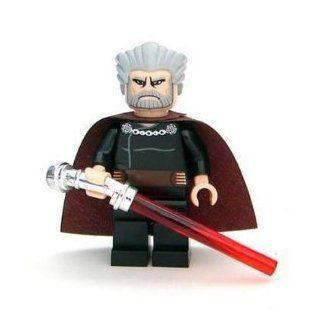 Lego Star Wars Mini Figure Count Dooku with Lightsaber (Approximately 45mm / 1.8 Inch Tall) Toys & Games