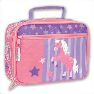 Girl's PONY or Horse Lunch Box   Girls pink soft lunch boxes by Stephen Joseph   can be monogrammed once recieved. We also offer matching backpacks.