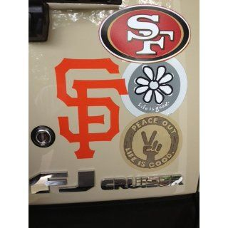 "San Francisco Giants Auto Car Wall Decal Sticker Vinyl Orange 6"" Solid   Other Products"