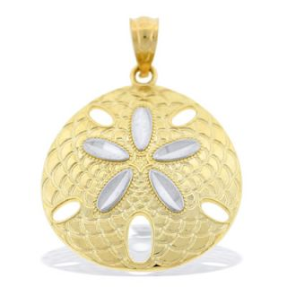 Sand Dollar Necklace Charm in 10K Two Tone Gold   Zales