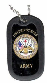 United States Department of Army Seal Logo Symbols   Military Dog Tag Luggage Tag Key Chain Metal Chain Necklace