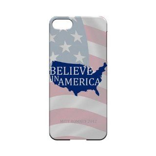 [Geeks Designer Line] Believe in America Apple iPhone 5 Plastic Case Cover [Anti Slip] Supports Premium High Definition Anti Scratch Screen Protector; Durable Fashion Snap on Hard Case; Coolest Ultra Slim Case Cover for iPhone 5 Supports Apple 5 Devices Fr
