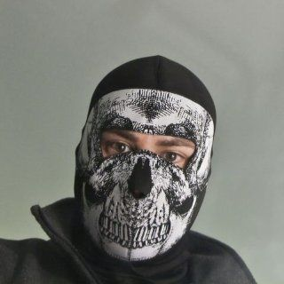 ZANheadgear Coolmax Extreme Balaclava with Full Skull Mask (Black and White) Automotive