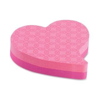 "3M Commercial Office Supply Div. Products   Super Sticky Note Pad, Heart Shaped, 3""x3"", 150 Sheets, Pink   Sold as 1 PD   Brighten someone's day with these fun notes. Pad is die cut and contains 150 sheets. Super Sticky Notes hold stronger an"