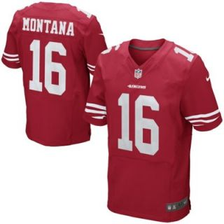 Nike Joe Montana San Francisco 49ers Retired Elite Jersey   Scarlet