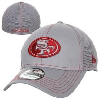 New Era San Francisco 49ers NFL Neo 39THIRTY Flex Hat   Ash