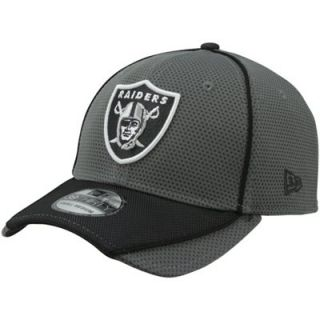 New Era Oakland Raiders 39THIRTY Abrasion Flex Hat   Charcoal