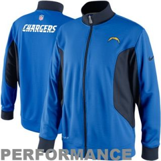 Nike San Diego Chargers Empower Full Zip Knit Performance Jacket   Charger Blue