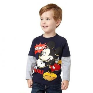 "Mickey Mouse Toddler Shirt ""Pow Here Comes Trouble"" Clothing"