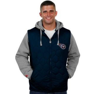 Pro Line Tennesee Titans Big and Tall Midnight Stinger Hooded Jacket   Navy Blue