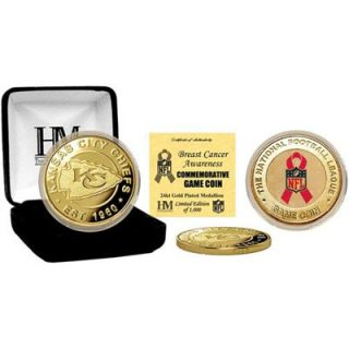 Kansas City Chiefs 24kt Gold Breast Cancer Awareness Commemorative Game Coin