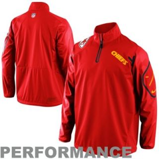 Nike Kansas City Chiefs Fly Rush Quarter Zip Performance Jacket   Navy Red