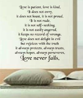 Love Is Patient Love Is Kind Wall Decal Sticker Vinyl Beautiful Quote Words   Other Products