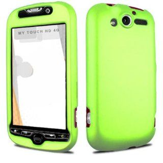 Fits HTC Mytouch 4G Hard Plastic Snap on Cover Solid Neon Green (Rubberized) T Mobile (does not fit HTC Mytouch 3G or HTC Mytouch 3G Slide or HTC Mytouch 4G Slide) Cell Phones & Accessories