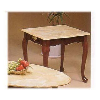 Shop MARBLE LIKE TOP SQUARE END TABLE WITH QUEEN ANNE LEGS at the  Furniture Store. Find the latest styles with the lowest prices from Cross Country Furniture