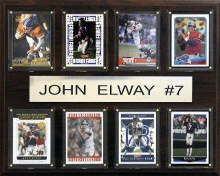 NFL Denver Broncos John Elway Eight Card Plaque  Decorative Plaques  Sports & Outdoors