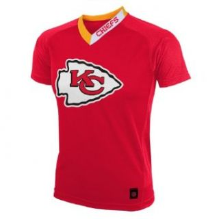 NFL Team Apparel Youth Kansas City Chiefs Performance Short Sleeve T Shirt   Size Large Clothing