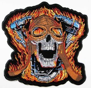 Big Skulls Biker Patches 20x19.5 Cm Motorcycle Biker Patch Sew/iron on Patch to Cloth, Jacket, Jean, Cap, T shirt and Etc.