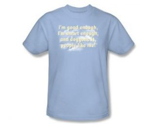 SNL Saturday Night Live I'M GOOD ENOUGH Short Sleeve Adult Tee LIGHT BLUE T Shirt Movie And Tv Fan T Shirts Clothing