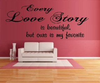 "EVERY LOVE STORY IS BEAUTIFUL #2 ~ WALL DECAL 11"" X 27"" Kitchen & Dining"