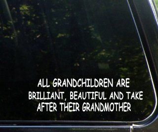All Grandchildren Are Brilliant, Beautiful, and Take After Their Grandmother   Funny   Die Cut Decal for Windows, Cars, Trucks, Laptops, Etc.