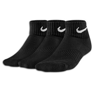 Nike 3 Pack Moisture MGT Cushion Quarter Socks   Boys Grade School   Training   Accessories   Black/White