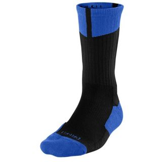 Jordan AJ Dri Fit Crew Socks   Mens   Basketball   Accessories   Black/Game Royal