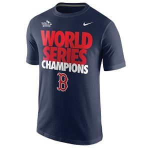 Nike MLB World Series Celebration T Shirt   Mens   Baseball   Clothing   Boston Red Sox   College Navy