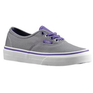 Vans Authentic   Girls Preschool   Skate   Shoes   Frost Grey/Passion Flower