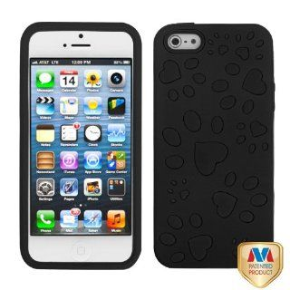 Apple iPhone 5 Hard Plastic Snap on Cover Rubberized Black/Black Puppypaw Hybrid AT&T, Cricket, Sprint, Verizon Plus A Free LCD Screen Protector (does NOT fit Apple iPhone or iPhone 3G/3GS or iPhone 4/4S) Cell Phones & Accessories