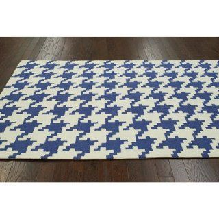 Shop Trellis Regal Blue Houndstooth Rug Rug Size 5' x 8' at the  Home D�cor Store