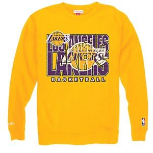 Mitchell & Ness NBA Technical Foul Crew   Mens   Basketball   Clothing   Los Angeles Lakers   Gold