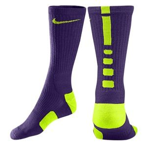Nike Elite Basketball Crew Socks   Mens   Basketball   Accessories   Court Purple/University Gold