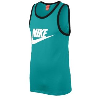 Nike Ace Logo Tank   Mens   Casual   Clothing   Dark Grey Heather/Black/Laser Crimson