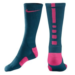 Nike Elite Basketball Crew Socks   Mens   Basketball   Accessories   Green Abyss/Bright Magenta