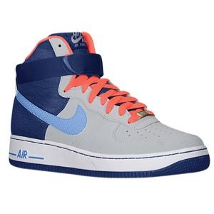 Nike Air Force 1 High   Mens   Basketball   Shoes   Wolf Grey/Distance Blue/Deep Royal Blue