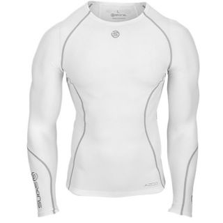 SKINS A200 Compression Long Sleeve Top   Mens   Running   Clothing   White