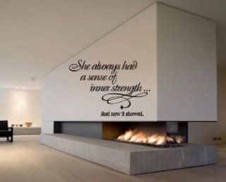 She Always Had a Sense of Inner Strength and Now It Showed Sports Vinyl Wall Decal Sticker Mural Quotes Words Hf010shealwaysv   Wall Decor Stickers
