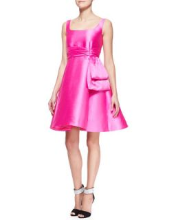 Womens sleeveless fit and flare dress with bow detail   kate spade new york
