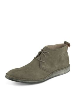 Mens Parkchester Suede Chukka Boot, Dark Gray   Andrew Marc   Dark gray (8.5D)