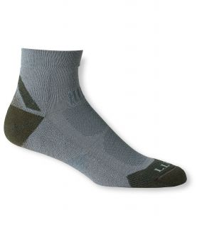 Mens All Sport Primaloft Socks, Lightweight Quarter Crew, 2 Pack