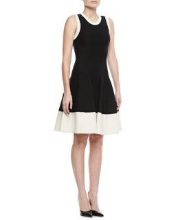 Womens quincy fit & flare sweater dress   kate spade new york   Black/Cream