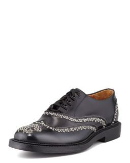 Mens Studded Wing Tip Shoe, Black   Dsquared2   Black (43.5/11.5D)