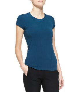 Womens Short Sleeve Tee, Teal   Donna Karan   Teal (MEDIUM)