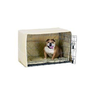 Pet Dreams Side Door Pet Dog Crate Cover Safety Bumper Pad   Large / Khaki  Pet Kennel Covers