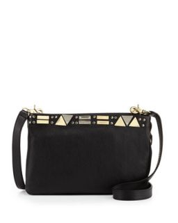 Iron Horse Day Leather Crossbody Bag, Black   Foley + Corinna